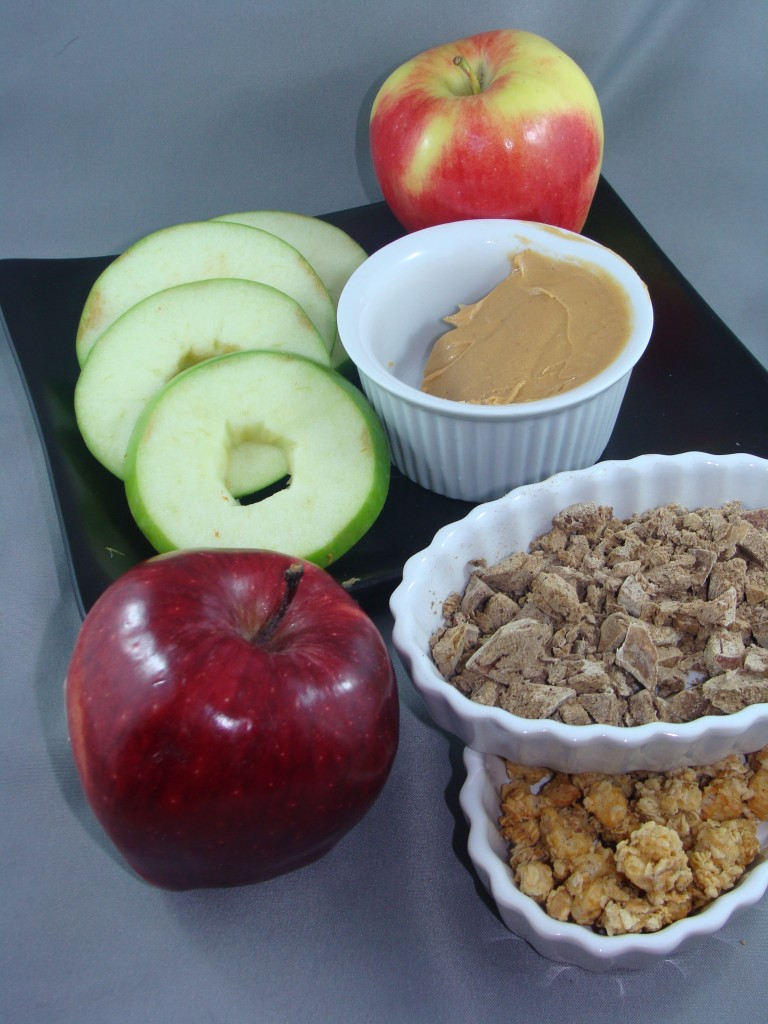 Homemade Apple Peanut Butter Snacks