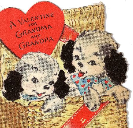 Vintage Valentine Puppies