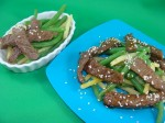 beef with garlic green beans