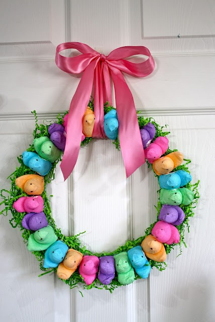 Peeps on a wreath