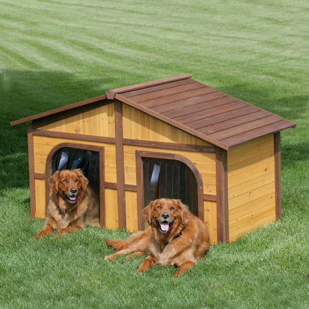 Side by Side Dog House