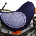 Handmade Blue bird cat nip toy