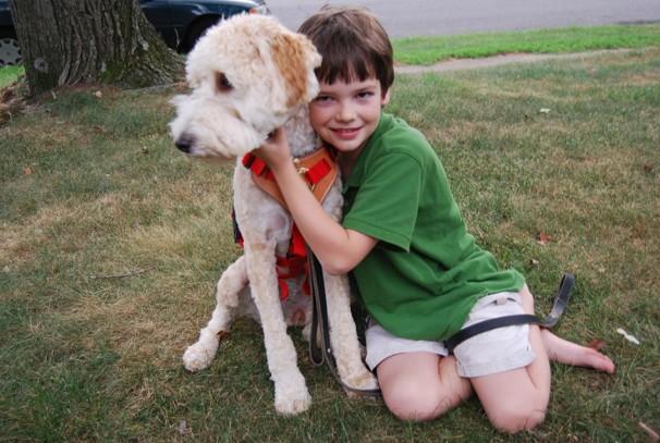 Evan Moss and Seizure Dog Mindy