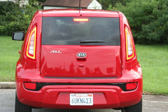 Kia Soul from the rear