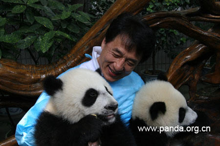Jackie Chan with Pandas