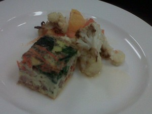 Frittata with Spinach and Smoked Turkey