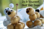Do It Yourself Golf Ball Dogs a fun craft for Father's Day