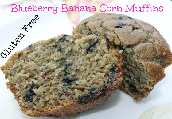 Blueberry Banana Corn Muffins Gluten Free - Two Little ...