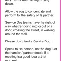 Teach Children how to behave around Service Dogs