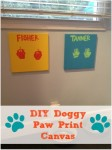 DIY Doggy Paw Print Canvas