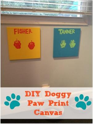 DIY Doggy Paw Print Canvas