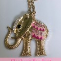 Elephant Pendant Long Necklace