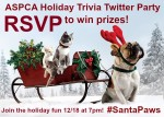 ASPCA #SantaPaws Twitter Chat 12/18 7 – 8pm Eastern