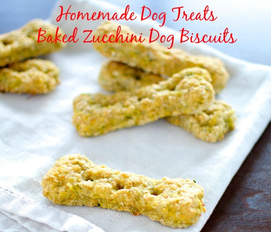 Homemade Dog Treats - Baked Zucchini Dog Biscuits 1