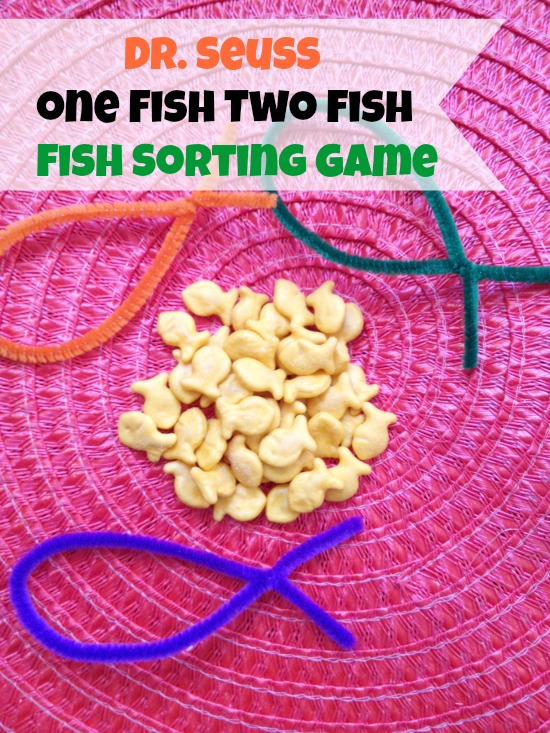 Dr. Seuss Game - Dr. Seuss One Fish Two Fish Sorting Game