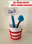 Dr. Seuss Decorations: Nifty Name Holders