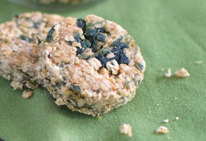 Homemade Dog Treats Spinach and Oatmeal Bars