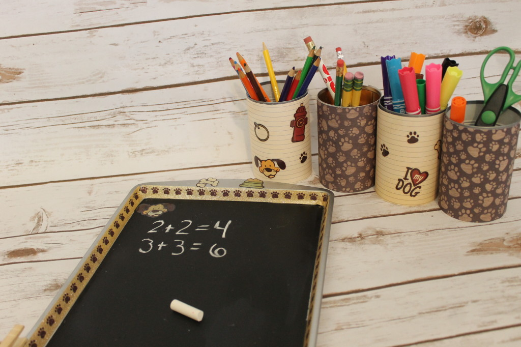 DIY School supply organizer