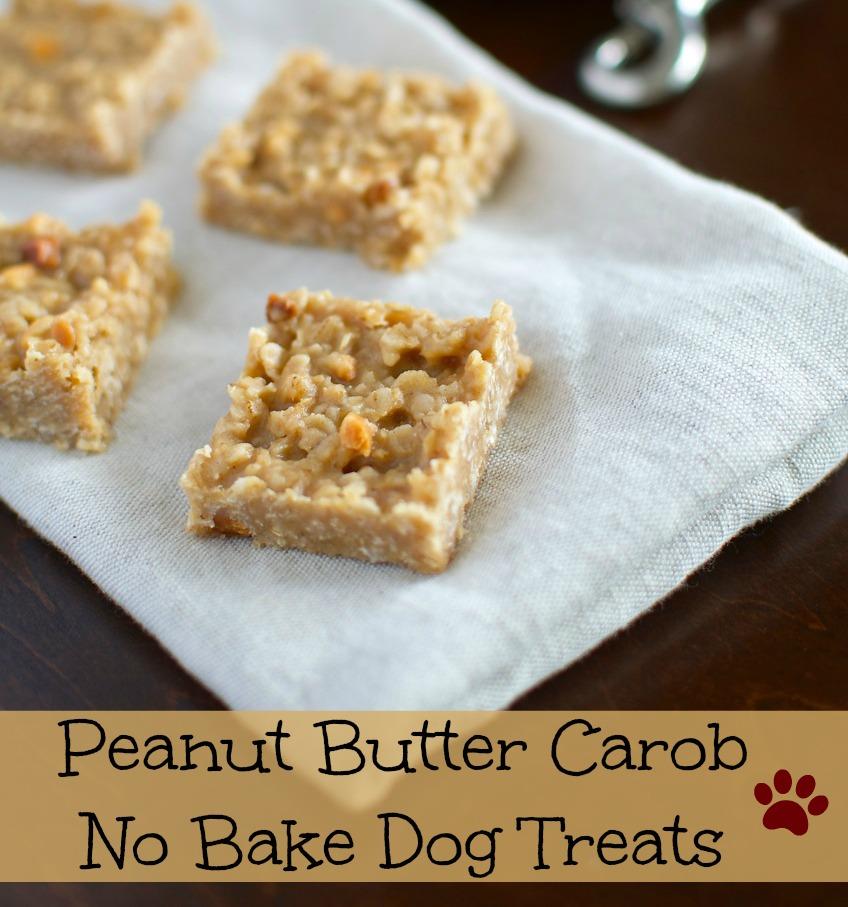 Peanut Butter and Carob Dog Treats