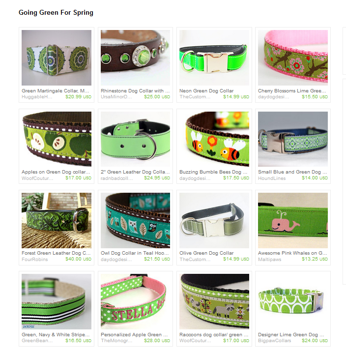 Going Green For Spring Collars