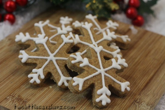 Snowflake Dog Treats Pumpkin Peanut Butter