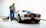 Willie and Dixie with Ron and his 2005 Ford GT